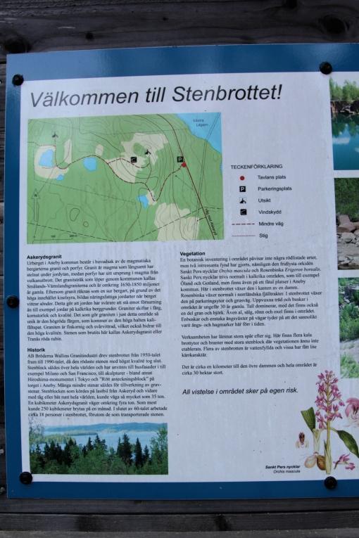 Stenbrottet ett par mil utanför Aneby i Askeryds socken.