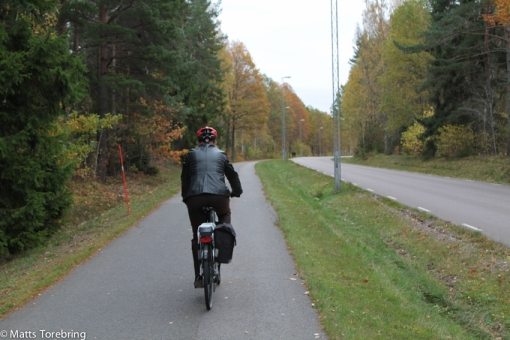 Vi cyklade in till stan