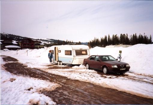 Vintercamping 1995 i Lindvallen Sälen