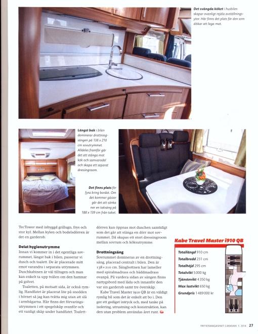 Fritidsmagasinet Caravan nummer fem 2014. Foto Anette Fajersson