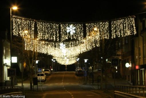 Julbelysningen på Köpmangatan Aneby