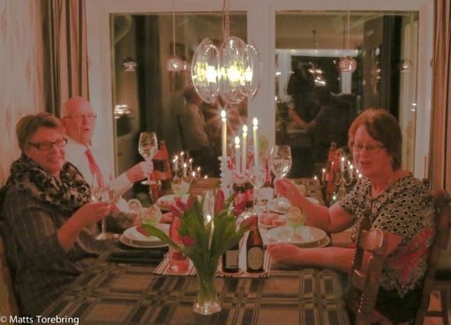 Nyårsafton tillsammans med vännerna Anette & Göran Fajersson