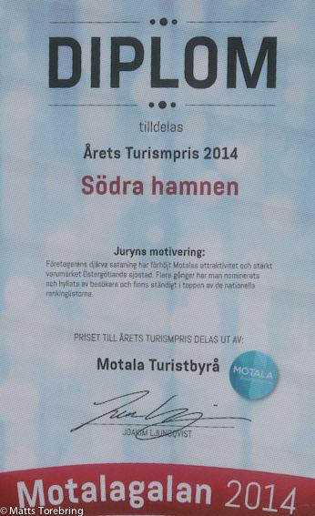 Diplom till Södra Hamnens Ställplats