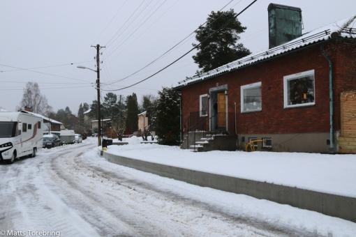 Framme på Östrandsvägen i Enskede