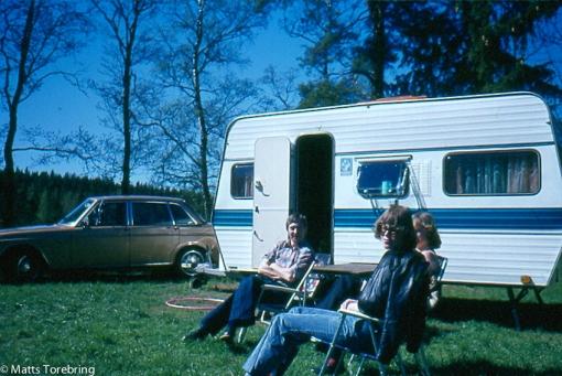 Vår första nya husvagn 1976