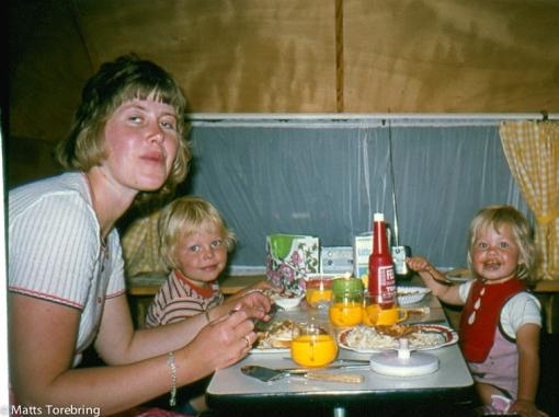 Första måltiden i en husvagn