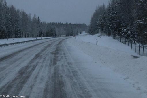 Isknölar att köra på mest hela dagen