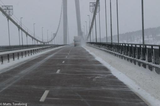 Det blåste 10 sekundmeter på Höga kusten bron