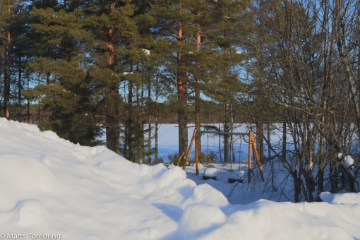 Sen frukost på rastplats  strax utanför Piteå