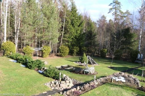 För en vecka sedan 10 cm snö, idag är det grönt igen.