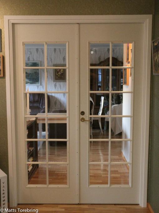Dörren till vardagsrummet är borta