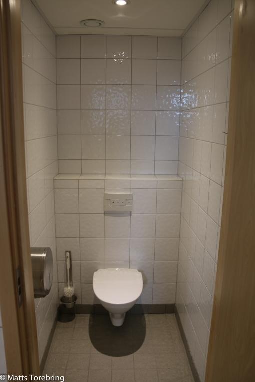 Kliniskt rent även på toaletterna