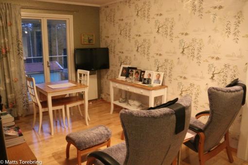 Tidigare köksmöblerna fick plats i tv rummet