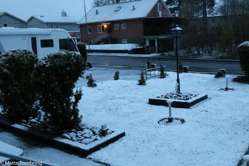 Hemma på Skogsgatan Aneby klockan 5.15 idag