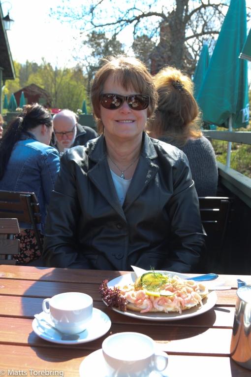Birgittas räkmacka blev för ljus i solskenet