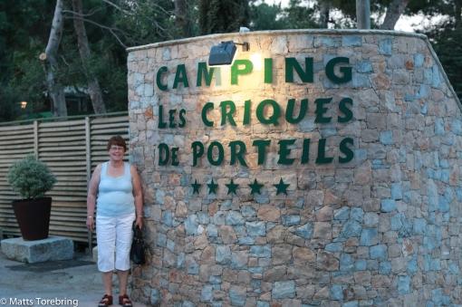 Vår första dag på Camping Les Criques