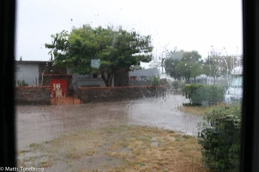 En regnig dag igår på Franska Rivieran