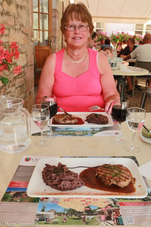 Vi avslutade dagen med en Biff Bourgogne i restaurangen