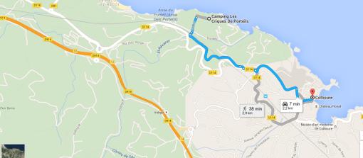 Från oss har vi drygt 35 km till Spanien.