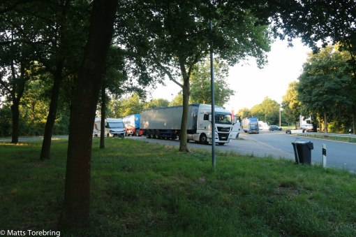 På kvällen stannade vi strax utanför Münster i Tyskland.