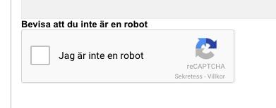 Bevisa att du inte är en robot