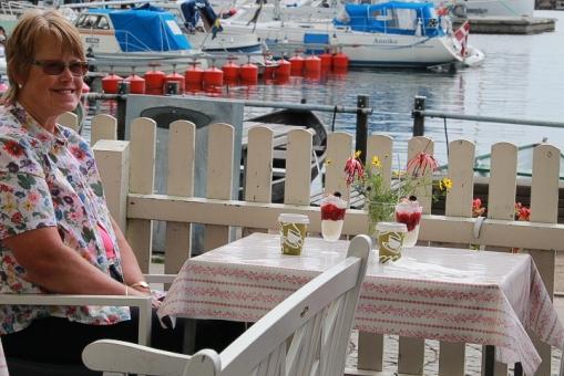 Glasscaféet i hamnen