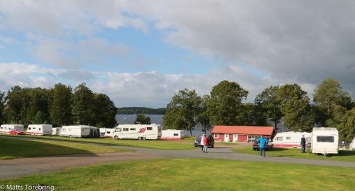 Vi vaknar till ömsom sol & regn på Osby Camping