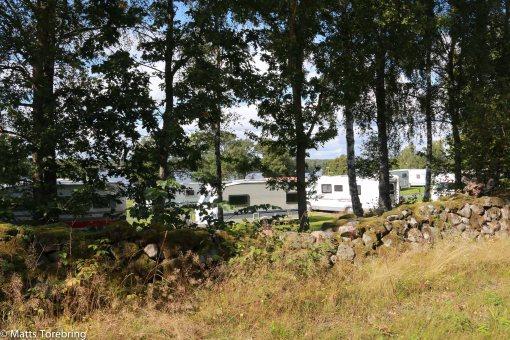Osby Camping ligger riktigt vackert och bara två km från centrum