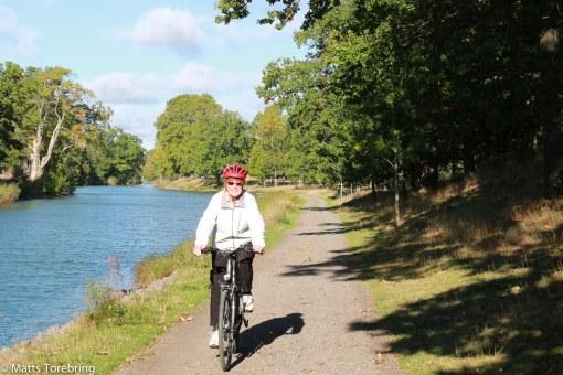 Vi gav oss iväg på en cykeltur till Bergs Slussar