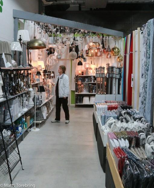Inne i butiken hos Monica & Lasse