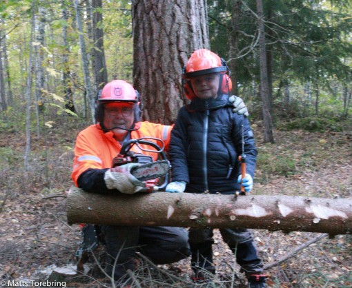 Barnbarnet Linus Torebring & Farfar. Foto Carina Torebring