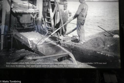Ett mudderverk användes senare