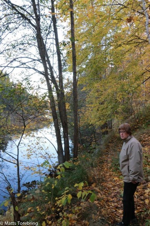 Här fiskar många ungdomar i Svartån