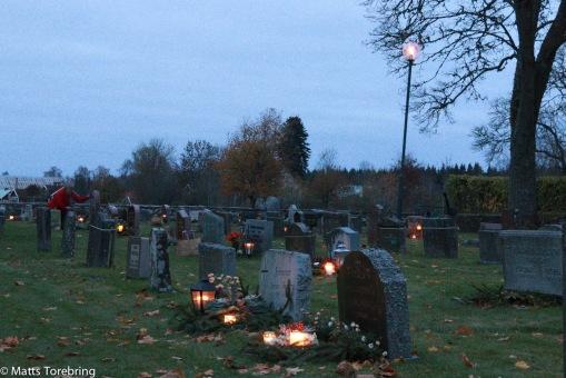 Frinnaryds kyrkogård där Birgittas familj vilar