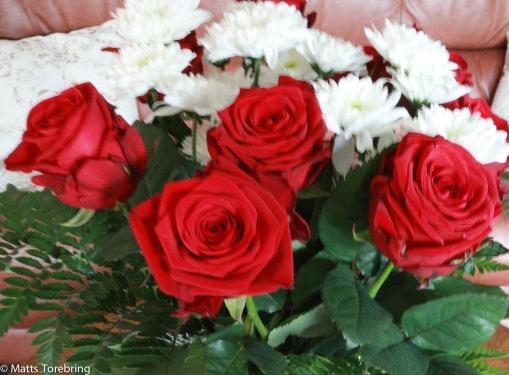 Ett fång röda rosor till min bror