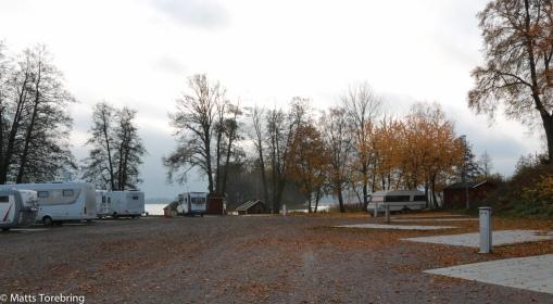 Ställplatsen i Askersund gästade vi i helgen