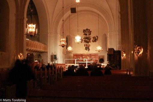 Lommaryds kyrka 45 minuter före start