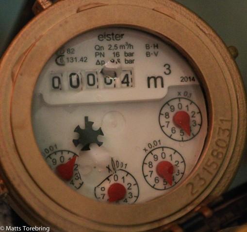 Ny vattenmätare monterad idag
