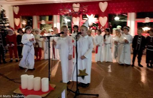 Luciafest på Linus förskola