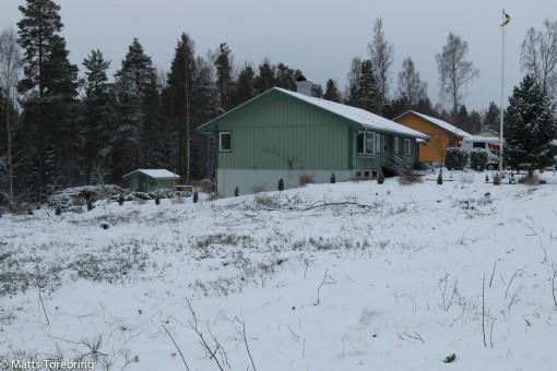 Nu kom första snön över den tomma Ställplatsen